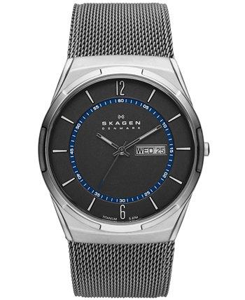 Мужские часы-браслет Melbye Titanium Mesh 40 мм SKW6078 Skagen