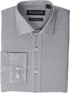 Говорящая эластичная классическая рубашка с цветочным принтом Nick Graham
