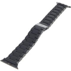 Черный ремешок-браслет в силиконовой упаковке для Apple Watch Michele
