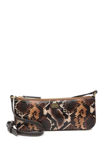 Кожаная сумка через плечо Pip со змеиным принтом Frances Valentine