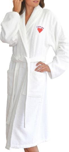 Махровый халат с вышивкой LINUM HOME TEXTILES