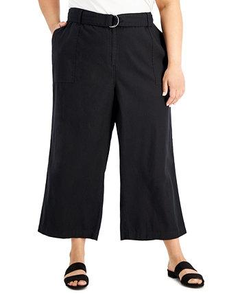 Широкие брюки большого размера с поясом Calvin Klein