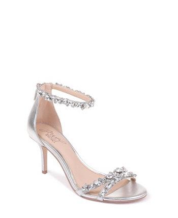 Вечерние сандалии Caroline с ремешком на щиколотке с украшением Jewel Badgley Mischka