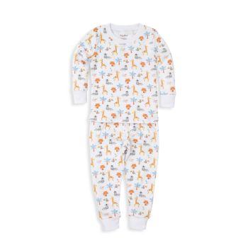 Комплект из 2 предметов пижамы с принтом Jungle Fever для маленьких мальчиков Kissy Kissy