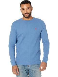 Однотонная термостойкая рубашка с длинным рукавом и круглым вырезом U.S. POLO ASSN.