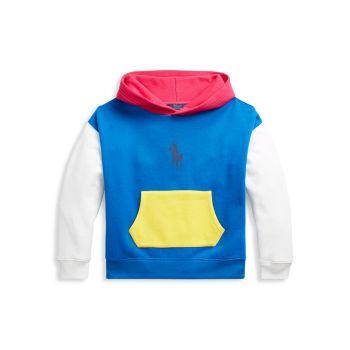 Маленькая девочка & amp; Толстовка с цветными блоками для девочек Ralph Lauren