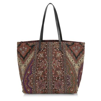 East West Reversible Studded Paisley Tote Etro