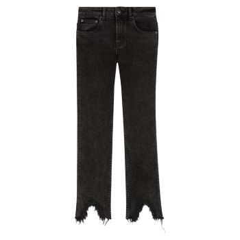 Прямые джинсы Pachafran с необработанным краем Maje