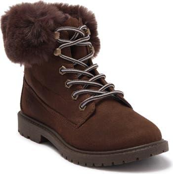 Ботинки на шнуровке с манжетами из искусственного меха Ziginy