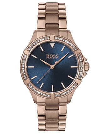 Женские мини спортивные гвоздики золотые часы браслет из нержавеющей стали 32мм HUGO BOSS