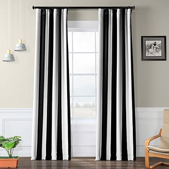 EFF Blackout 1-Panel Awning Striped Window Curtain EFF