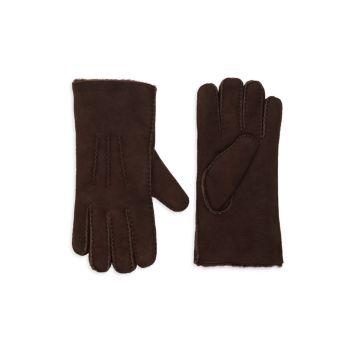 Замшевые перчатки с подкладкой из овчины Portolano
