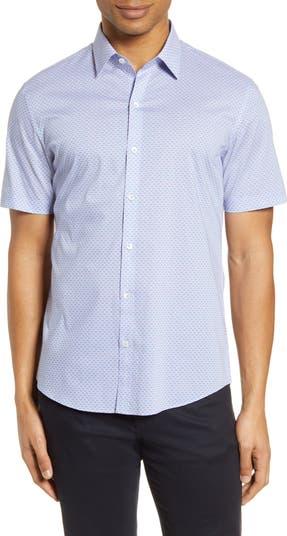 Рубашка классического кроя с короткими рукавами и пуговицами Dinwiddie Zachary Prell
