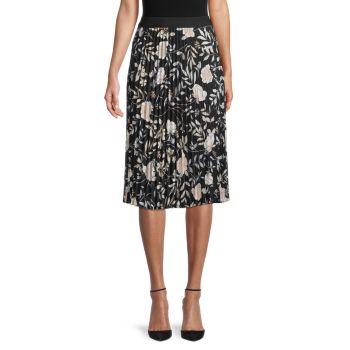 Юбка со складками и цветочным принтом Calvin Klein
