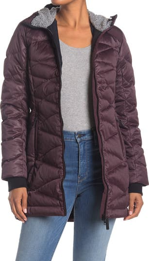 Faith Faux Fur Lined Hood Quilted Down Jacket Lole