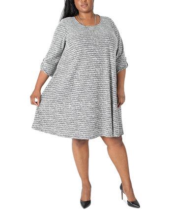 Платье трапециевидной формы с ожерельем больших размеров Robbie Bee