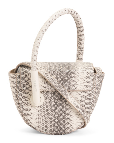 Leather Mez Arles Snake Small Novelty Tote Louise et Cie