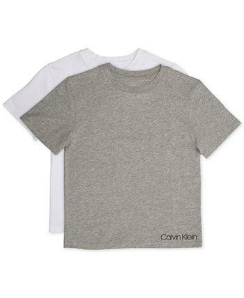 Футболка для маленьких и больших мальчиков, 2 упаковки Calvin Klein