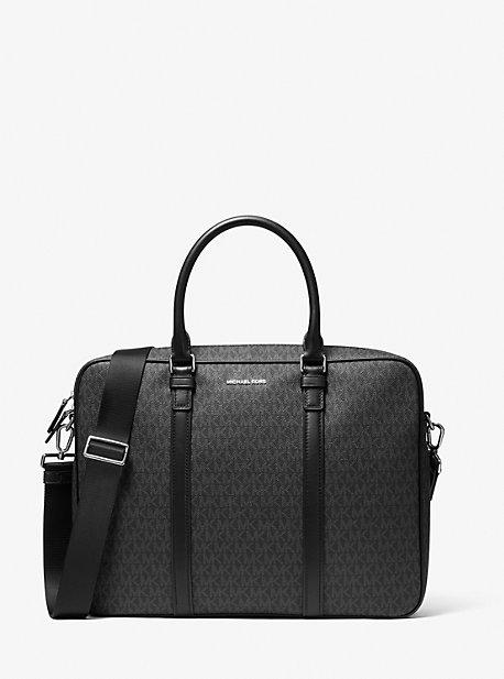 Кожаный портфель и логотип Hudson Michael Kors