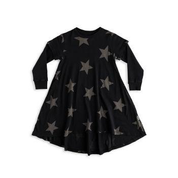 Маленькая девочка & amp; Платье Hi-Lo Star для девочек Nununu
