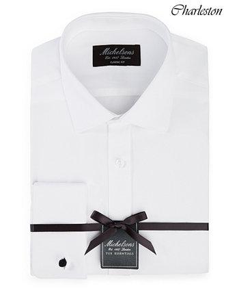 of London Мужская классическая / классическая рубашка в твердом стиле с французскими манжетами Michelsons