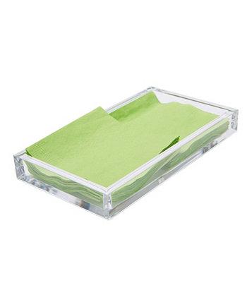 Акриловый держатель для салфеток, органайзер для хранения плоских салфеток Mind Reader