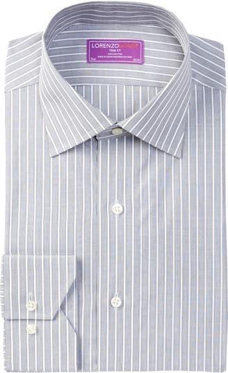 Оксфордская классическая рубашка с отделкой в полоску Lorenzo Uomo