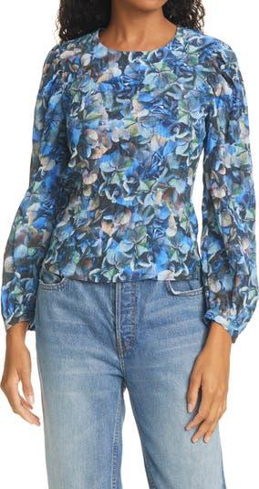 Блузка с длинным рукавом Mylee с цветочным принтом BAUM UND PFERDGARTEN