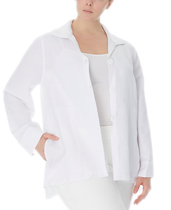 Куртка больших размеров с воротником Anne Klein