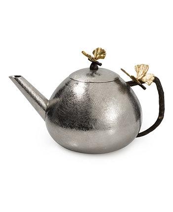 Круглый чайник бабочка гинкго MICHAEL ARAM