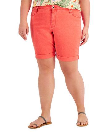 Джинсовые шорты-бермуды большого размера, созданные для Macy's Style & Co