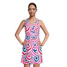 Женское платье для плавания с запахом и запахом с запахом на животе Women's Lands 'End Tummy Control Lands' End