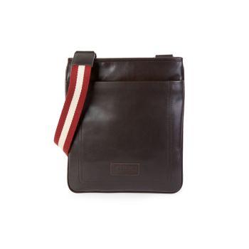 Кожаная сумка через плечо Terino с ремешком в полоску BALLY
