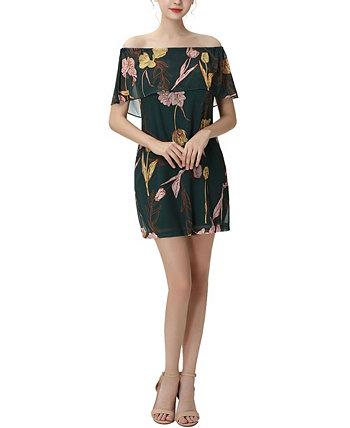 Женское шифоновое платье с открытыми плечами и цветочным принтом Briar Kimi + kai