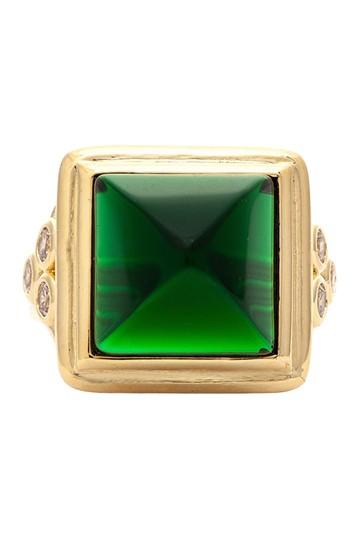 Кольцо из 18-каратного золота с кристаллами изумруда Rivka Friedman