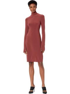 Платье-водолазка с длинным рукавом до колена Norma Kamali