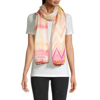 Chevron & amp; Шелковый шарф в клетку Missoni