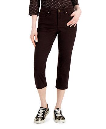 Джинсы Bristol Capri Jeans с контрастной отделкой, созданные для Macy's Charter Club