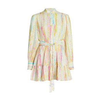 Платье-рубашка с принтом тай-дай HEMANT & NANDITA
