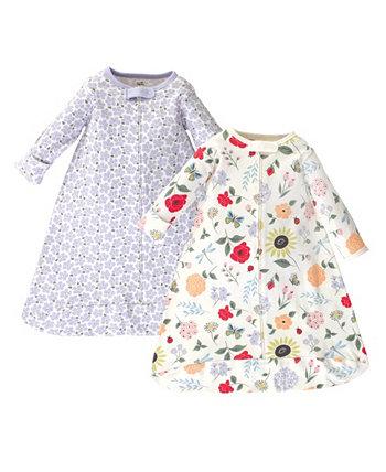 Baby Girl Flutter Garden с длинным рукавом Переносной спальный мешок, пакет из 2 Touched by Nature