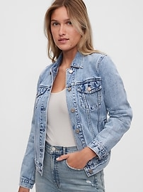 Джинсовая куртка с умывальником Icon Gap
