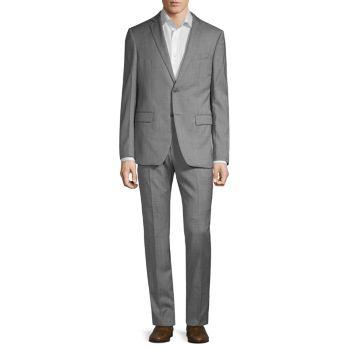 Приталенный костюм из фактурной шерсти John Varvatos Star U.S.A.