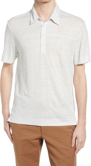 Рубашка-поло из льняной ткани CLUB MONACO