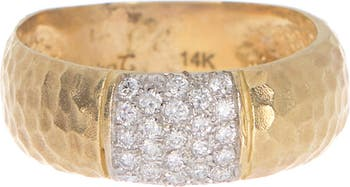 Miera T 14K Yellow Gold & DIamond Burnished Ring - Size 6.5 - 0.23 ctw Meira T