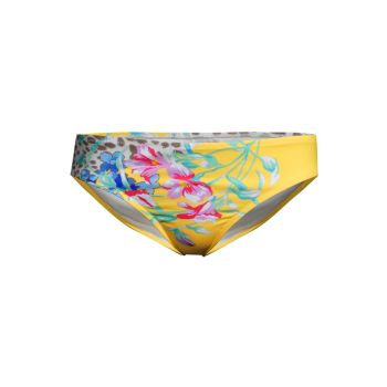 Wildflower-Print Hipster Bottoms Johnny Was