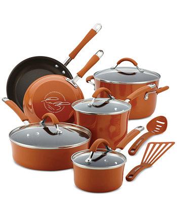 Набор посуды из 12 предметов с твердой эмалью Cucina с антипригарным покрытием Rachael Ray