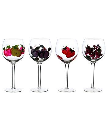 Бокалы для вина на фруктовой ножке, 4 шт. Three Star