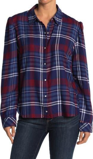 Фланелевая рубашка с воротником в клетку Como Vintage