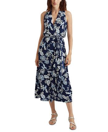 Металлическое платье на бретельках Ralph Lauren