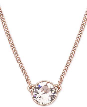 Ожерелье с подвеской с кристаллами, удлинитель 16 + 2 дюйма Givenchy